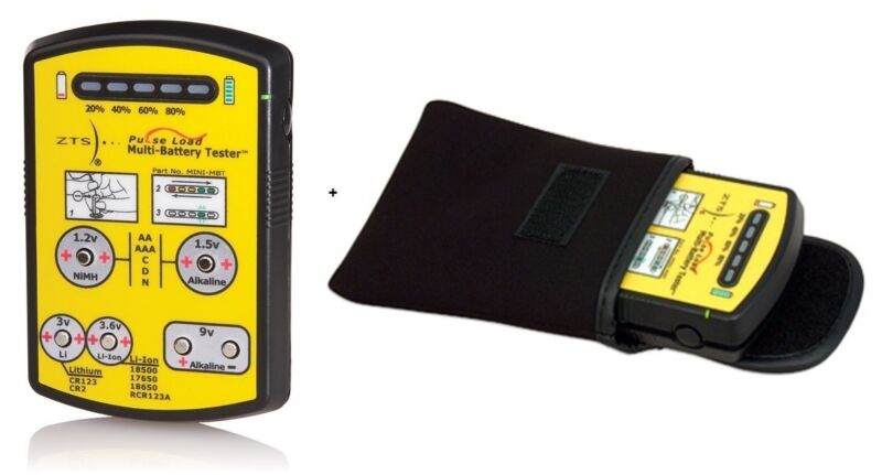 ZTS MINI-MBT Multi-Battery Tester + Soft Carrying Case, No Retai Packaging