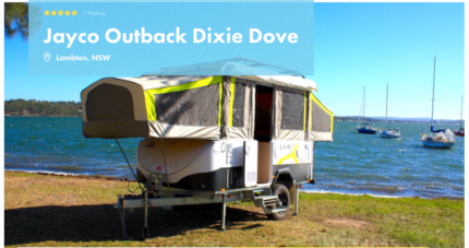 Jayco Dove Outback Pop Top FOR HIRE in Lambton from $75/night