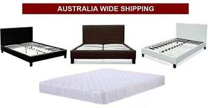 Brand New Leather PU Bed + Mattress DEAL (All Sizes)