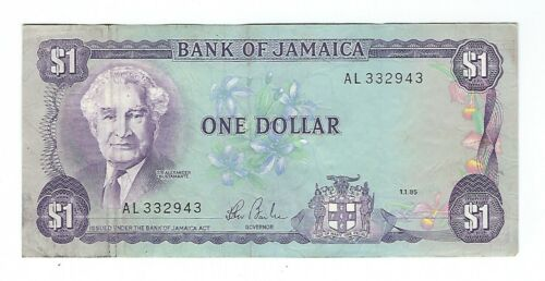 Jamaica - One (1) Dollar, 1985