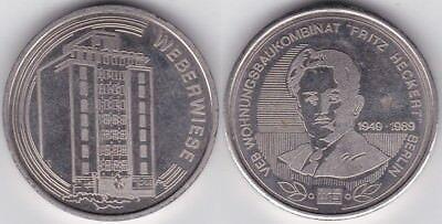 Hettstedt-Medaille Berlin Weberwiese VEB Wohnungsbaukombinat Fritz Heckert 1989,