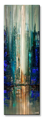 Metal Wall Sculpture Contemporary Abstract City Lights 7