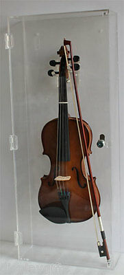 Acoustic/Electric Violin Mandolin Fiddle  Display Case, all side clear : ACVD03