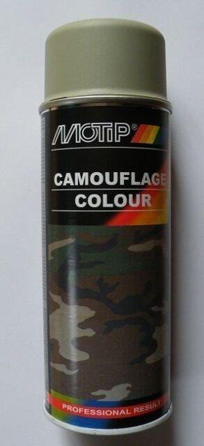 Motip Camouflage Tarnfarben Spray Grau 400ml Autofarbe Autolack NEU