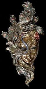 Venezianische Maske - Peacock Garden - Veronese Wand Deko Venedig Karneval
