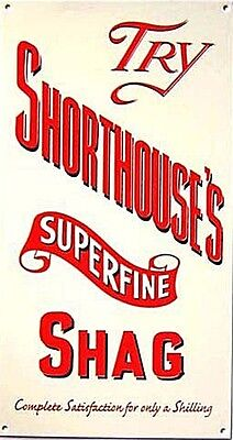 Shorthouse's Superfine Shag enamelled steel wall sign   260mm x 140mm   (dp)