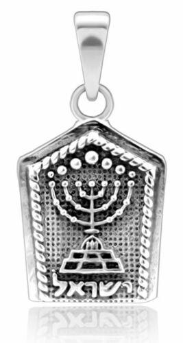 925 Sterling Silver Menorah Pendant - Symbol of Israel - Jewish Jewelry