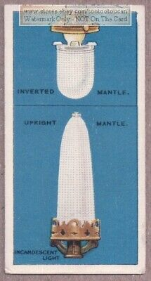 Inverted And Upright Gas Lighting Mantles 1915  Ad Trade Card ()