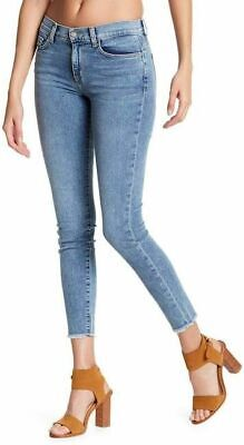Fray Denim Jeans (SIWY DENIM Lauren Ankle Fray Leg Undone Hem Skinny Jeans Blue 26 $218 #13)