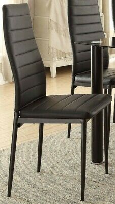 Single Homelegance Florian Metal Dining Chairs (White or Black)