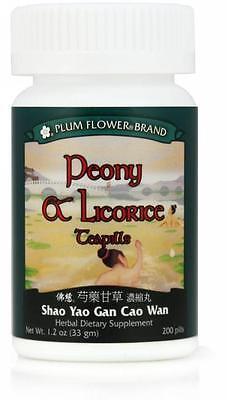 - Plum Flower, Peony & Licorice Teapills, Shao Yao Gan Cao Wan, 200 ct
