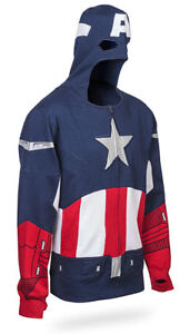 BRAND NEW! SIZE MEDIUM! Captain America Costume Hoodie