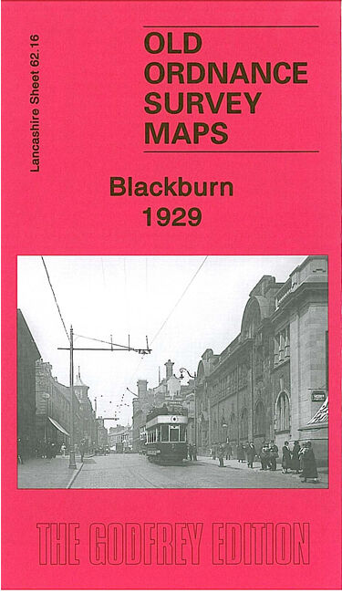OLD ORDNANCE SURVEY MAP BLACKBURN MARKET PLACE BROCKHOUSE PRINGLE STREET 1929