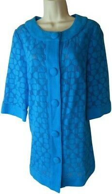 Milly 10 blue jacket top designer  for sale  Shipping to India