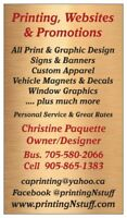 Printing, Graphic Design, Apparel & Signs -GREAT RATES