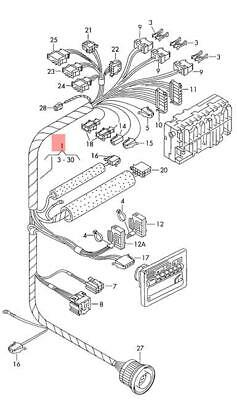 Genuine VW Wiring Set For Air- Conditioning Actuation NOS VW Eurovan 7D0971565