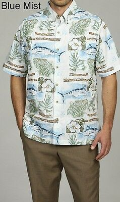Hook & Tackle Men's Tamarindo Shirt Blue Mist Small