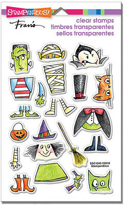 STAMPENDOUS FRAN'S CLEAR STAMPS HALLOWEEN COSTUME - Halloween Frans
