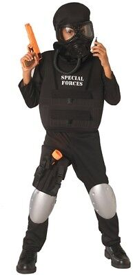 Boys Child American Heroes SPECIAL FORCES Cop Costume (Cop Costume For Boys)