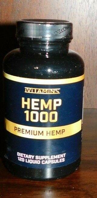 iVitamins Hemp 1000, Premium Hemp, 120 Liquid Caps, exp 2/2021