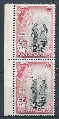 Swaziland 1961 Sc# 71 Courting couple overpr pair MNH