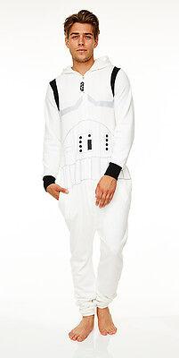 Storm Trooper Anzug (Stormtrooper Star Wars Jumpsuit mit Kapuze Einteiler Overall Herren Anzug neu)