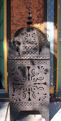 Moroccan Lantern Wrought Cast Iron Lamp Candle Holder Outdoor Lanterns Morish