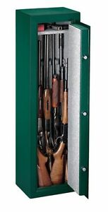Stack on 8 gun safe with combo lock, 3 rod secure