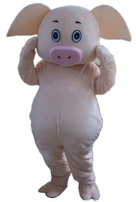 Cute Halloween Cosplay Slaughter Pig Mascot Costume Adults Dress Birthday Gift