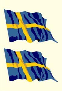 2 x Königreich Schweden schwedisch Sverige Sticker Fahne Flagge Aufkleber