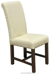 High Back Kitchen Dining Chair in Cream, Black or Red