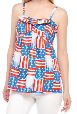 Bow Tie Tank (Crown & Ivy Bow Tie Front tank Patriotic stars Stripes Top REG & PLUS $50)