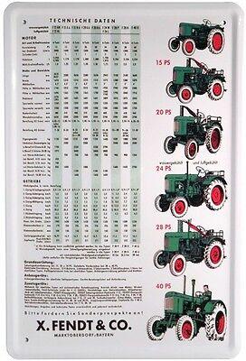 Fendt Traktoren Traktor Blechschild 20x30 Tin Sign Metallschild 512