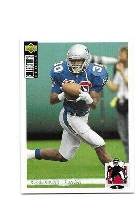 NEW ENGLAND PATRIOTS MICHIGAN WOLVERINES CORWIN BROWN 1994 ROOKIE FOOTBALL CARD Michigan Wolverines Brown Football
