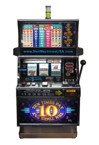 IGT Ten Times Pay and Sizzling 7s Slot Machine For Sale