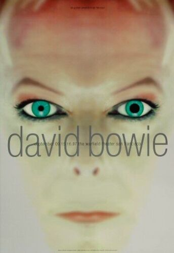 DAVID BOWIE 1997 EARTHLING TOUR WARFIELD THEATER CONCERT POSTER / NMT 2 MINT