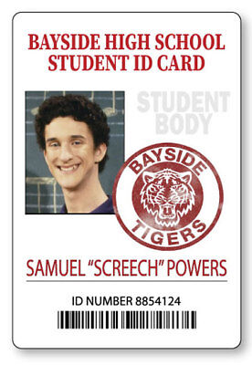 SCREECH BAYSIDE SAVED BY THE BELL  NAME BADGE HALLOWEEN COSPLAY MAGNET BACK