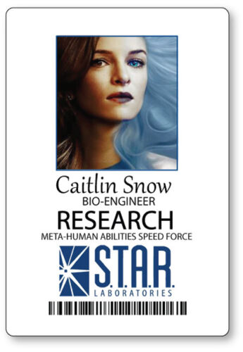 CAITLIN SNOW KILLER FROST THE FLASH NAME BADGE HALLOWEEN COSPLAY MAGNET BACK