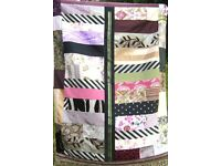 HOMEMADE PATCHWORK THROW - A PURPLER SHADE OF PINK £20 - Ideal for over a Bed or Sofa