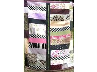 HOMEMADE PATCHWORK THROW - A PURPLER SHADE OF PINK £15 - Ideal for a Bed, Sofa or Picnic Blanket