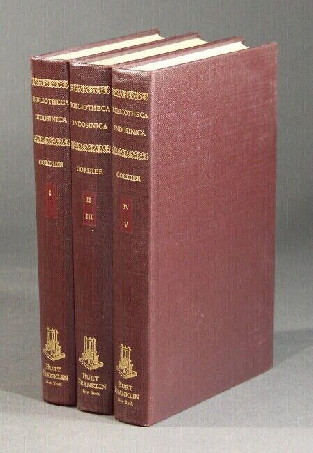 HENRI CORDIER / Bibliotheca indosinica Dictionnaire bibliographique des ouvrages