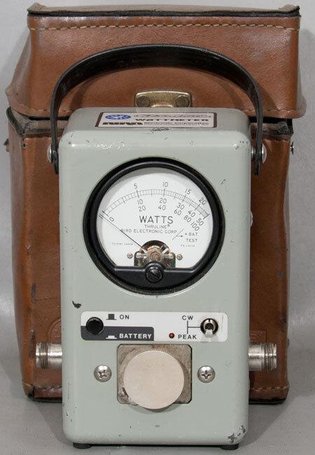 Bird 4314B Thruline RF Directional PEP Wattmeter with Carrying Case