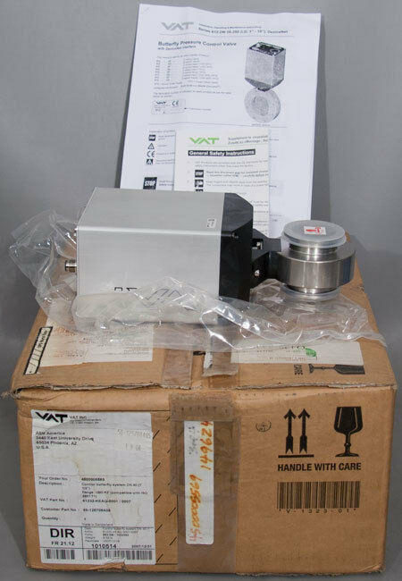 New Vat 61232-keaq-0001 Pressure Control Butterfly Valve, Asm Pn: 50-125708a05