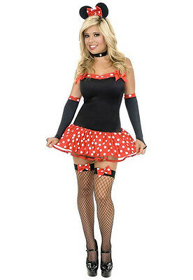 Sexy Miss Mouse Minnie Polka Dot Sexy Fancy Dress Halloween Teen Adult Costume - Teen Mouse Costume