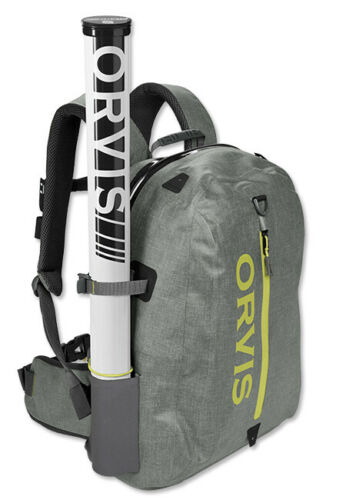 NEW UPDATED 2020 ORVIS WATERPROOF FLY FISHING BACKPACK IN GRAY COLOR - IN STOCK!