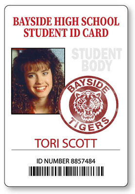 TORI SCOTT BAYSIDE  SAVED BY THE BELL  NAME BADGE HALLOWEEN COSPLAY MAGNET - Saved By The Bell Halloween Costumes