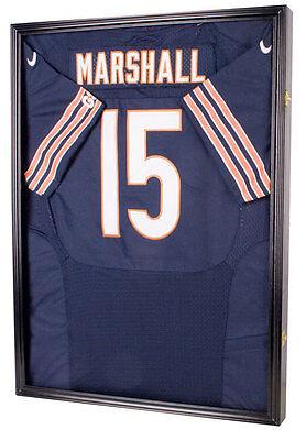 Pro UV Football Baseball Basketball Jersey Display Case Shadow Box, BLACK