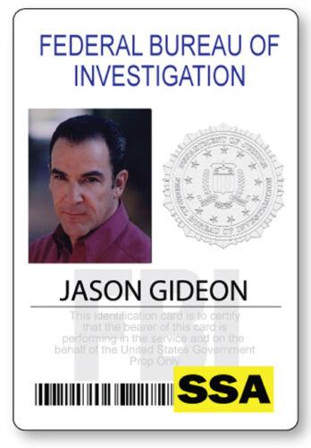 CRIMINAL MINDS JASON GIDEON NAME BADGE PROP HALLOWEEN COSPLAY PIN BACK