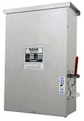 Ronk 7205a Meter-rite Double Pole Manual Transfer Switch Grade Level 200a 240v