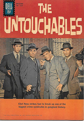 The Untouchables TV Series Four Color Comic Book #1237, Dell Comics 1961 FINE+